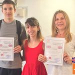 Determined students completed the English Course!